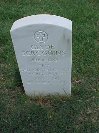 SCROGGINS (VETERAN WWII), CLYDE - Pulaski County, Arkansas | CLYDE SCROGGINS (VETERAN WWII) - Arkansas Gravestone Photos