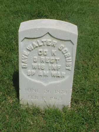 SCRUBY (VETERAN SAW), DAVE WALTER - Pulaski County, Arkansas | DAVE WALTER SCRUBY (VETERAN SAW) - Arkansas Gravestone Photos