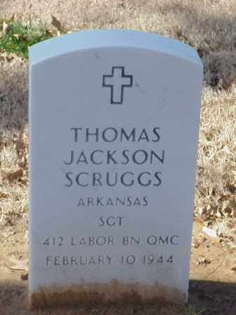 SCRUGGS (VETERAN WWI), THOMAS JACKSON - Pulaski County, Arkansas | THOMAS JACKSON SCRUGGS (VETERAN WWI) - Arkansas Gravestone Photos