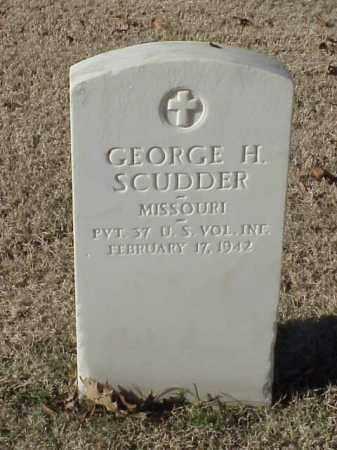 SCUDDER (VETERAN WWI), GEORGE H - Pulaski County, Arkansas | GEORGE H SCUDDER (VETERAN WWI) - Arkansas Gravestone Photos