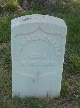 SEAGRAVES (VETERAN UNION), WILLIAM A - Pulaski County, Arkansas | WILLIAM A SEAGRAVES (VETERAN UNION) - Arkansas Gravestone Photos