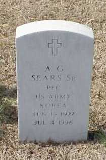 SEARS, SR (VETERAN KOR), A G - Pulaski County, Arkansas | A G SEARS, SR (VETERAN KOR) - Arkansas Gravestone Photos