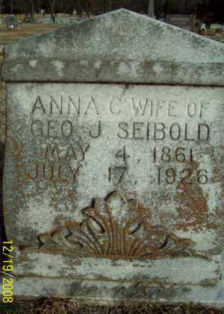 SEIBOLD, ANNA C - Pulaski County, Arkansas | ANNA C SEIBOLD - Arkansas Gravestone Photos