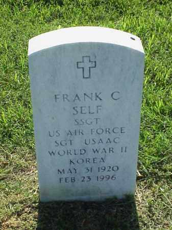SELF (VETERAN 2 WARS), FRANK C - Pulaski County, Arkansas | FRANK C SELF (VETERAN 2 WARS) - Arkansas Gravestone Photos
