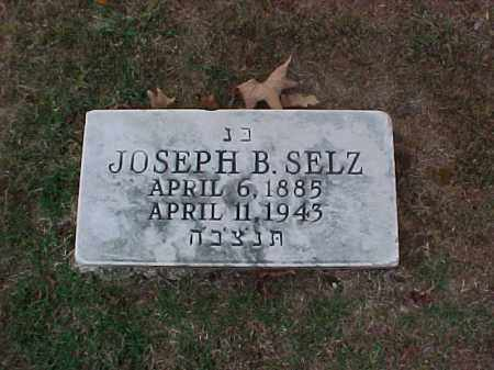 SELZ, JOSEPH B - Pulaski County, Arkansas | JOSEPH B SELZ - Arkansas Gravestone Photos