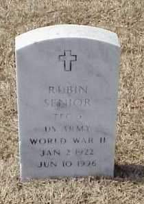SENIOR (VETERAN WWII), RUBIN - Pulaski County, Arkansas | RUBIN SENIOR (VETERAN WWII) - Arkansas Gravestone Photos