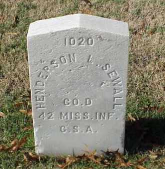 SEWALL (VETERAN CSA), HENDERSON L - Pulaski County, Arkansas | HENDERSON L SEWALL (VETERAN CSA) - Arkansas Gravestone Photos