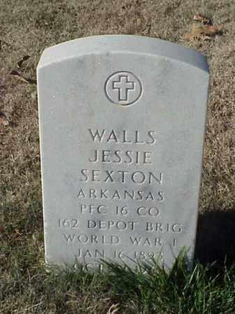 SEXTON (VETERAN WWI), WALLS JESSIE - Pulaski County, Arkansas | WALLS JESSIE SEXTON (VETERAN WWI) - Arkansas Gravestone Photos