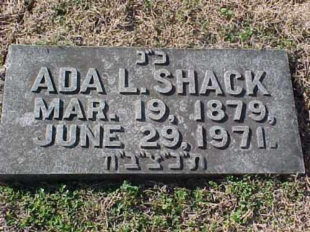 SHACK, ADA L - Pulaski County, Arkansas | ADA L SHACK - Arkansas Gravestone Photos