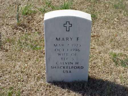 SHACKELFORD, MARY F - Pulaski County, Arkansas | MARY F SHACKELFORD - Arkansas Gravestone Photos