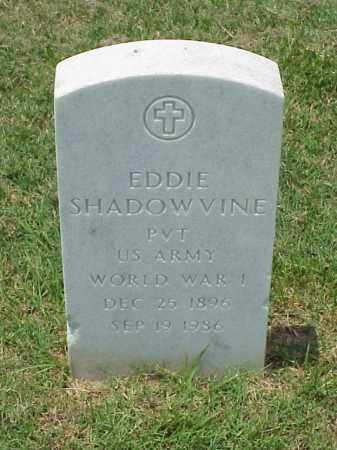 SHADOWVINE (VETERAN WWI), EDDIE - Pulaski County, Arkansas | EDDIE SHADOWVINE (VETERAN WWI) - Arkansas Gravestone Photos