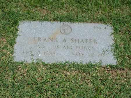 SHAFER (VETERAN), FRANK A - Pulaski County, Arkansas | FRANK A SHAFER (VETERAN) - Arkansas Gravestone Photos