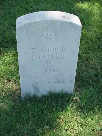 SHAFFER (VETERAN), ELMER B - Pulaski County, Arkansas | ELMER B SHAFFER (VETERAN) - Arkansas Gravestone Photos