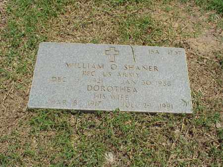 SHANER (VETERAN WWII), WILLIAM O - Pulaski County, Arkansas | WILLIAM O SHANER (VETERAN WWII) - Arkansas Gravestone Photos
