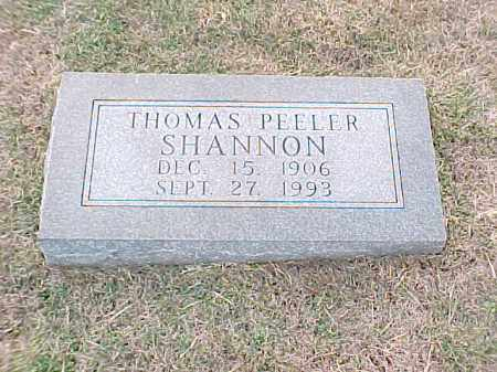 SHANNON, THOMAS PEELER - Pulaski County, Arkansas | THOMAS PEELER SHANNON - Arkansas Gravestone Photos