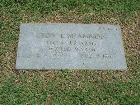 SHANNON (VETERAN WWII), LEON L - Pulaski County, Arkansas | LEON L SHANNON (VETERAN WWII) - Arkansas Gravestone Photos