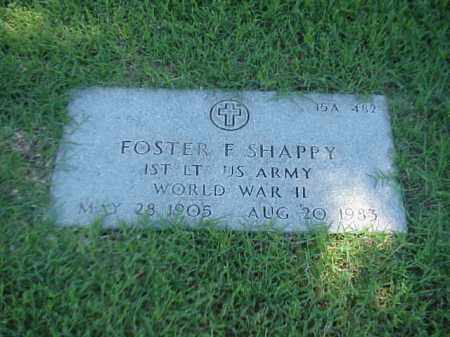 SHAPPY (VETERAN WWII), FOSTER F - Pulaski County, Arkansas | FOSTER F SHAPPY (VETERAN WWII) - Arkansas Gravestone Photos