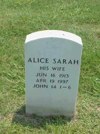 SHARP, ALICE SARAH - Pulaski County, Arkansas | ALICE SARAH SHARP - Arkansas Gravestone Photos