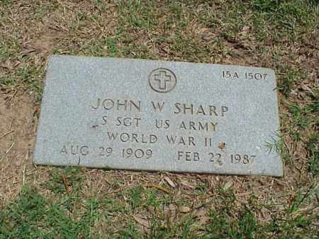 SHARP (VETERAN WWII), JOHN W - Pulaski County, Arkansas | JOHN W SHARP (VETERAN WWII) - Arkansas Gravestone Photos