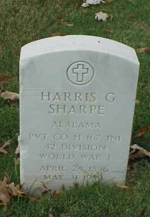 SHARPE (VETERAN WWI), HARRIS G - Pulaski County, Arkansas | HARRIS G SHARPE (VETERAN WWI) - Arkansas Gravestone Photos