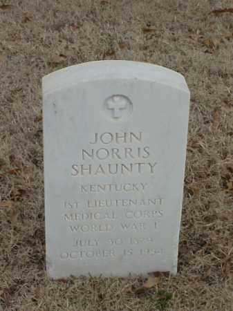 SHAUNTY (VETERAN WWI), JOHN NORRIS - Pulaski County, Arkansas | JOHN NORRIS SHAUNTY (VETERAN WWI) - Arkansas Gravestone Photos