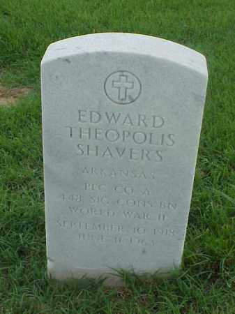 SHAVERS (VETERAN WWII), EDWARD THEOPOLIS - Pulaski County, Arkansas | EDWARD THEOPOLIS SHAVERS (VETERAN WWII) - Arkansas Gravestone Photos