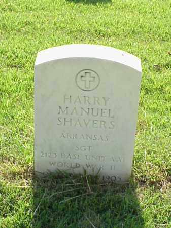 SHAVERS (VETERAN WWII), HARRY MANUEL - Pulaski County, Arkansas | HARRY MANUEL SHAVERS (VETERAN WWII) - Arkansas Gravestone Photos