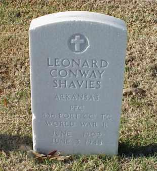 SHAVIES (VETERAN WWII), LEONARD CONWAY - Pulaski County, Arkansas | LEONARD CONWAY SHAVIES (VETERAN WWII) - Arkansas Gravestone Photos