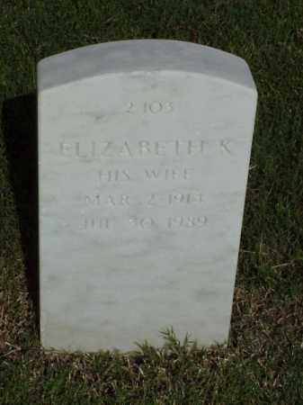 SHAW, ELIZABETH K - Pulaski County, Arkansas | ELIZABETH K SHAW - Arkansas Gravestone Photos