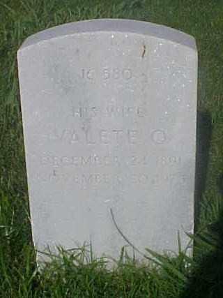 SHAW, VALETE O - Pulaski County, Arkansas | VALETE O SHAW - Arkansas Gravestone Photos