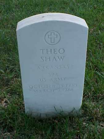 SHAW (VETERAN), THEO - Pulaski County, Arkansas | THEO SHAW (VETERAN) - Arkansas Gravestone Photos