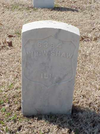 SHAW (VETERAN UNION), WILLIAM W - Pulaski County, Arkansas | WILLIAM W SHAW (VETERAN UNION) - Arkansas Gravestone Photos