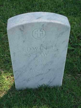 SHAW (VETERAN WWII), EDWIN E - Pulaski County, Arkansas | EDWIN E SHAW (VETERAN WWII) - Arkansas Gravestone Photos