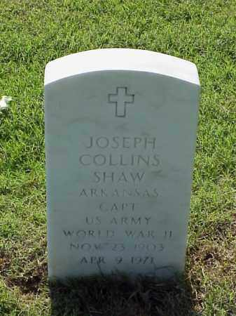 SHAW (VETERAN WWII), JOSEPH COLLINS - Pulaski County, Arkansas | JOSEPH COLLINS SHAW (VETERAN WWII) - Arkansas Gravestone Photos
