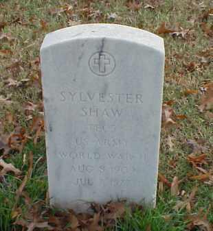 SHAW (VETERAN WWII), SYLVESTER - Pulaski County, Arkansas | SYLVESTER SHAW (VETERAN WWII) - Arkansas Gravestone Photos