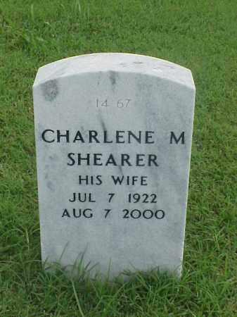 SHEARER, CHARLENE M - Pulaski County, Arkansas | CHARLENE M SHEARER - Arkansas Gravestone Photos