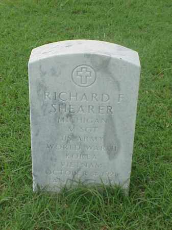 SHEARER (VETERAN 3 WARS), RICHARD F - Pulaski County, Arkansas | RICHARD F SHEARER (VETERAN 3 WARS) - Arkansas Gravestone Photos