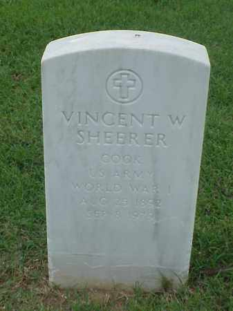 SHEERER (VETERAN WWI), VINCENT W - Pulaski County, Arkansas | VINCENT W SHEERER (VETERAN WWI) - Arkansas Gravestone Photos