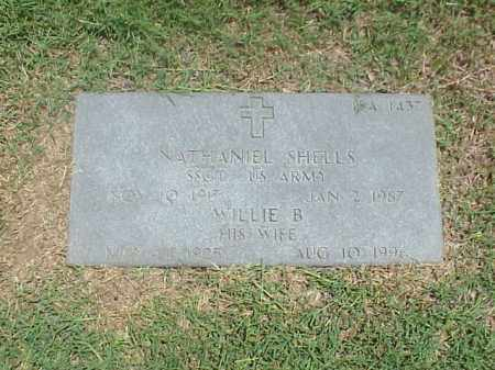 SHELLS (VETERAN WWII), NATHANIEL - Pulaski County, Arkansas | NATHANIEL SHELLS (VETERAN WWII) - Arkansas Gravestone Photos