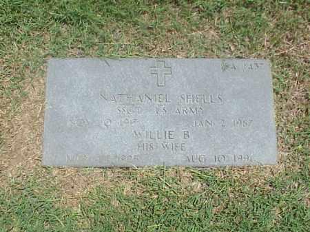 SHELLS, WILLIE B - Pulaski County, Arkansas | WILLIE B SHELLS - Arkansas Gravestone Photos