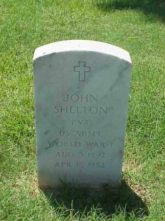 SHELTON (VETERAN WWI), JOHN - Pulaski County, Arkansas | JOHN SHELTON (VETERAN WWI) - Arkansas Gravestone Photos