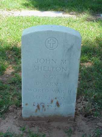 SHELTON (VETERAN WWII), JOHN M - Pulaski County, Arkansas | JOHN M SHELTON (VETERAN WWII) - Arkansas Gravestone Photos