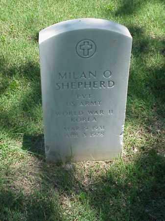 SHEPHERD (VETERAN 2 WARS), MILAN O - Pulaski County, Arkansas   MILAN O SHEPHERD (VETERAN 2 WARS) - Arkansas Gravestone Photos