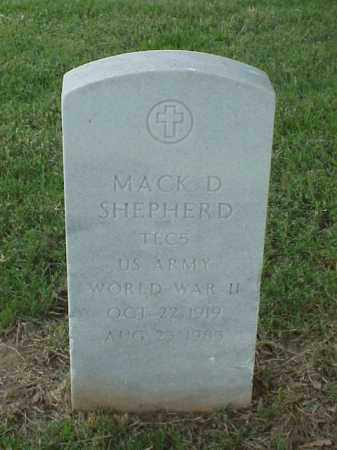 SHEPHERD (VETERAN WWII), MACK D - Pulaski County, Arkansas | MACK D SHEPHERD (VETERAN WWII) - Arkansas Gravestone Photos