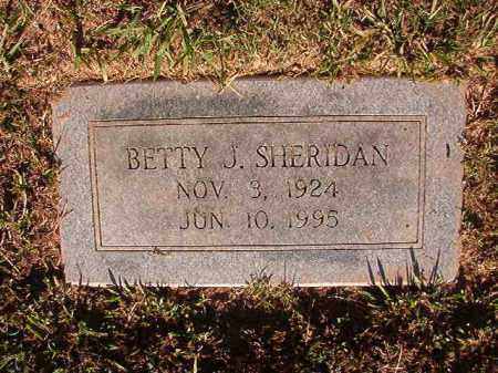 SHERIDAN, BETTY J - Pulaski County, Arkansas | BETTY J SHERIDAN - Arkansas Gravestone Photos