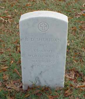 SHERIDAN (VETERAN WWII), R D - Pulaski County, Arkansas | R D SHERIDAN (VETERAN WWII) - Arkansas Gravestone Photos