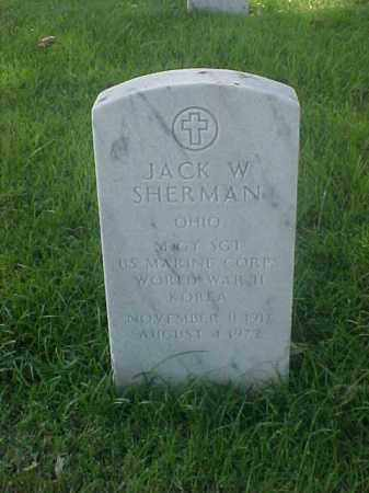SHERMAN (VETERAN 2 WARS), JACK W - Pulaski County, Arkansas | JACK W SHERMAN (VETERAN 2 WARS) - Arkansas Gravestone Photos