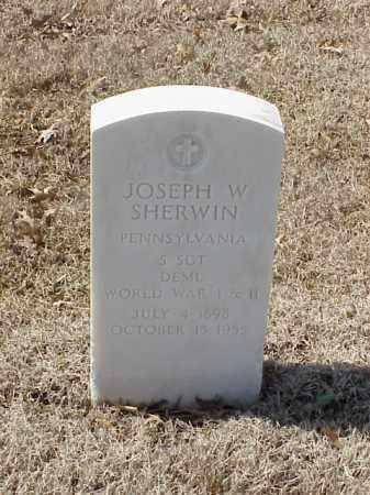 SHERWIN (VETERAN 2 WARS), JOSEPH W - Pulaski County, Arkansas | JOSEPH W SHERWIN (VETERAN 2 WARS) - Arkansas Gravestone Photos