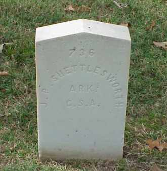 SHETTLEWORTH (VETERAN CSA), J P - Pulaski County, Arkansas | J P SHETTLEWORTH (VETERAN CSA) - Arkansas Gravestone Photos