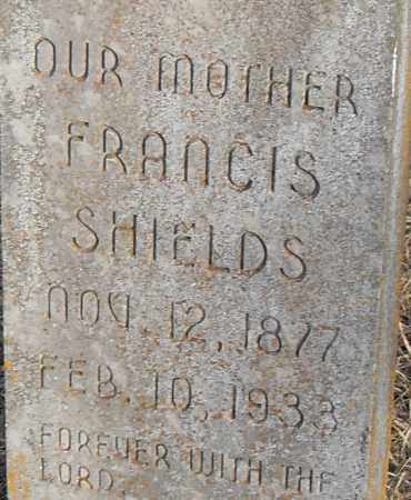 SHIELDS, FRANCIS - Pulaski County, Arkansas | FRANCIS SHIELDS - Arkansas Gravestone Photos